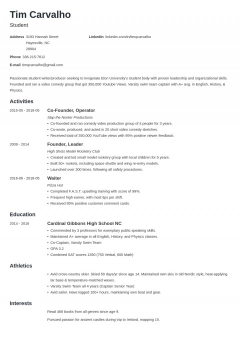 008 Phenomenal College Admission Resume Template Highest Clarity  Microsoft Word Application Download480