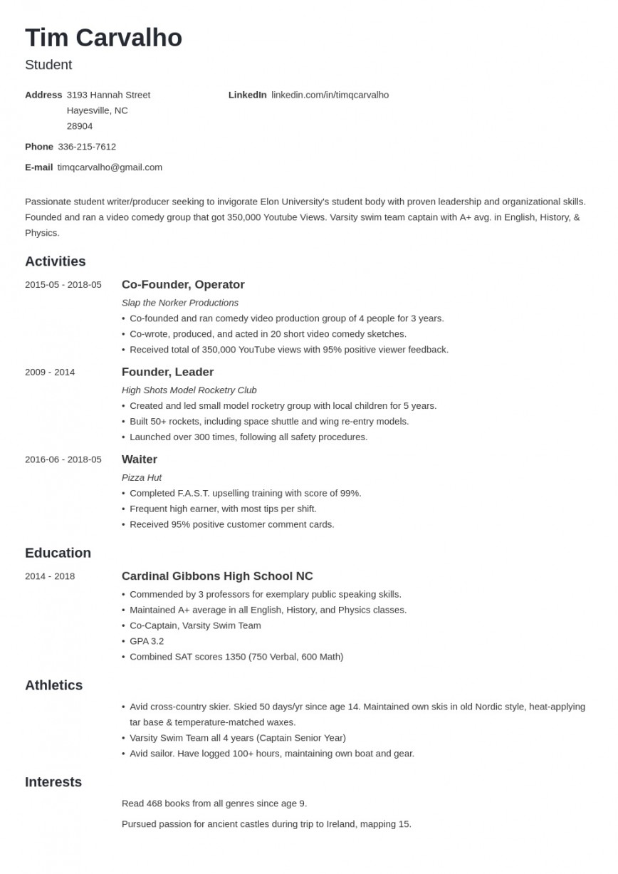 008 Phenomenal College Admission Resume Template Highest Clarity  Microsoft Word Application Download868