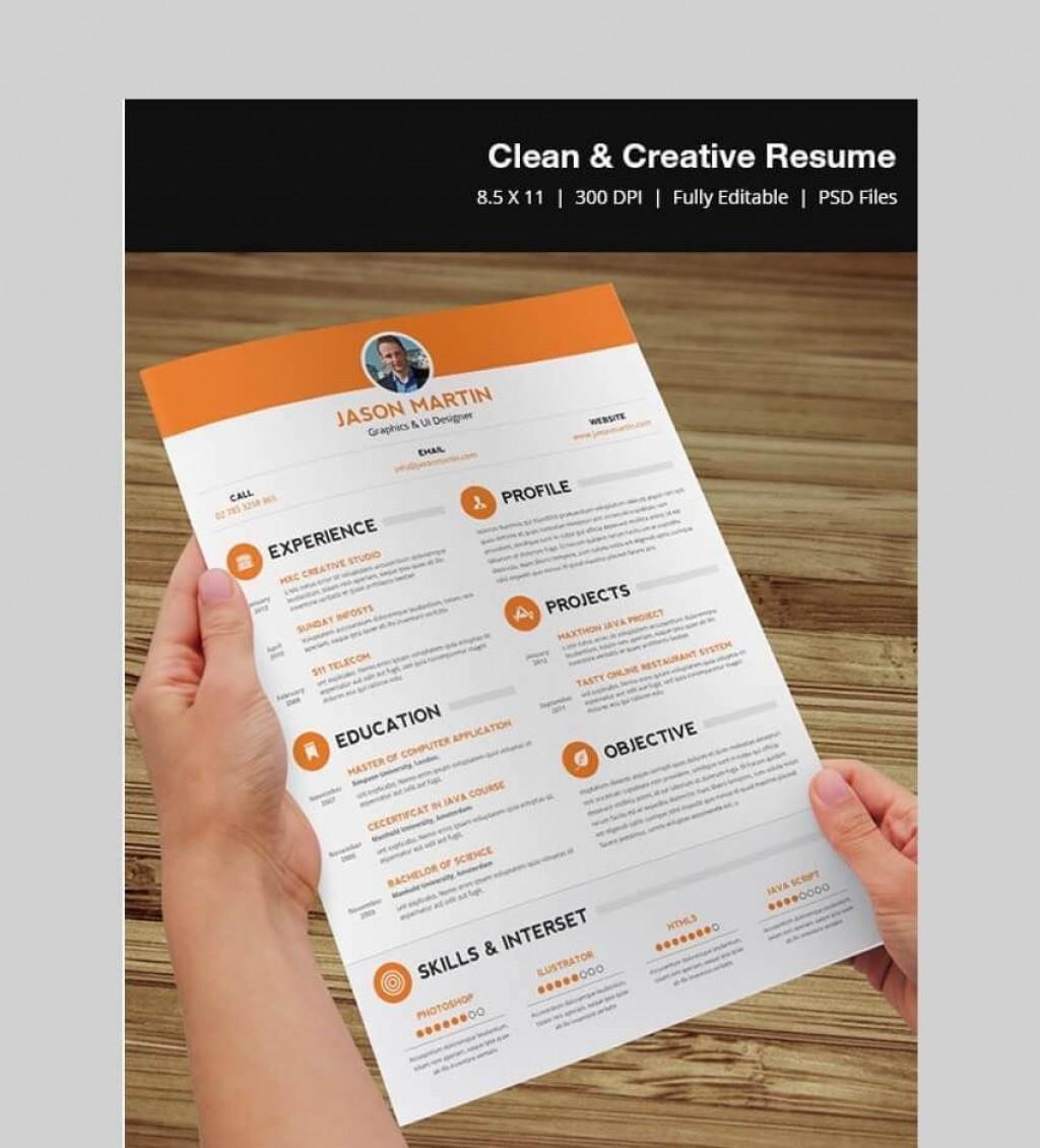 008 Phenomenal Creative Resume Template Free Download Psd Idea  CvLarge