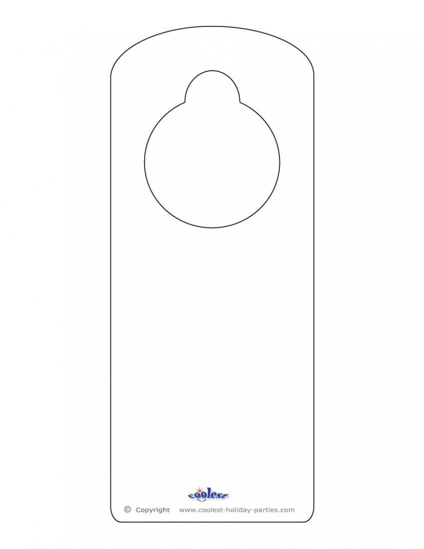 008 Phenomenal Door Hanger Template For Word High Def  Blank Microsoft Free