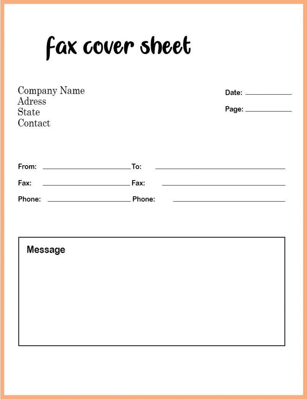 008 Phenomenal Fax Template Microsoft Word Picture  Cover Sheet 2010 Letter BusinesLarge