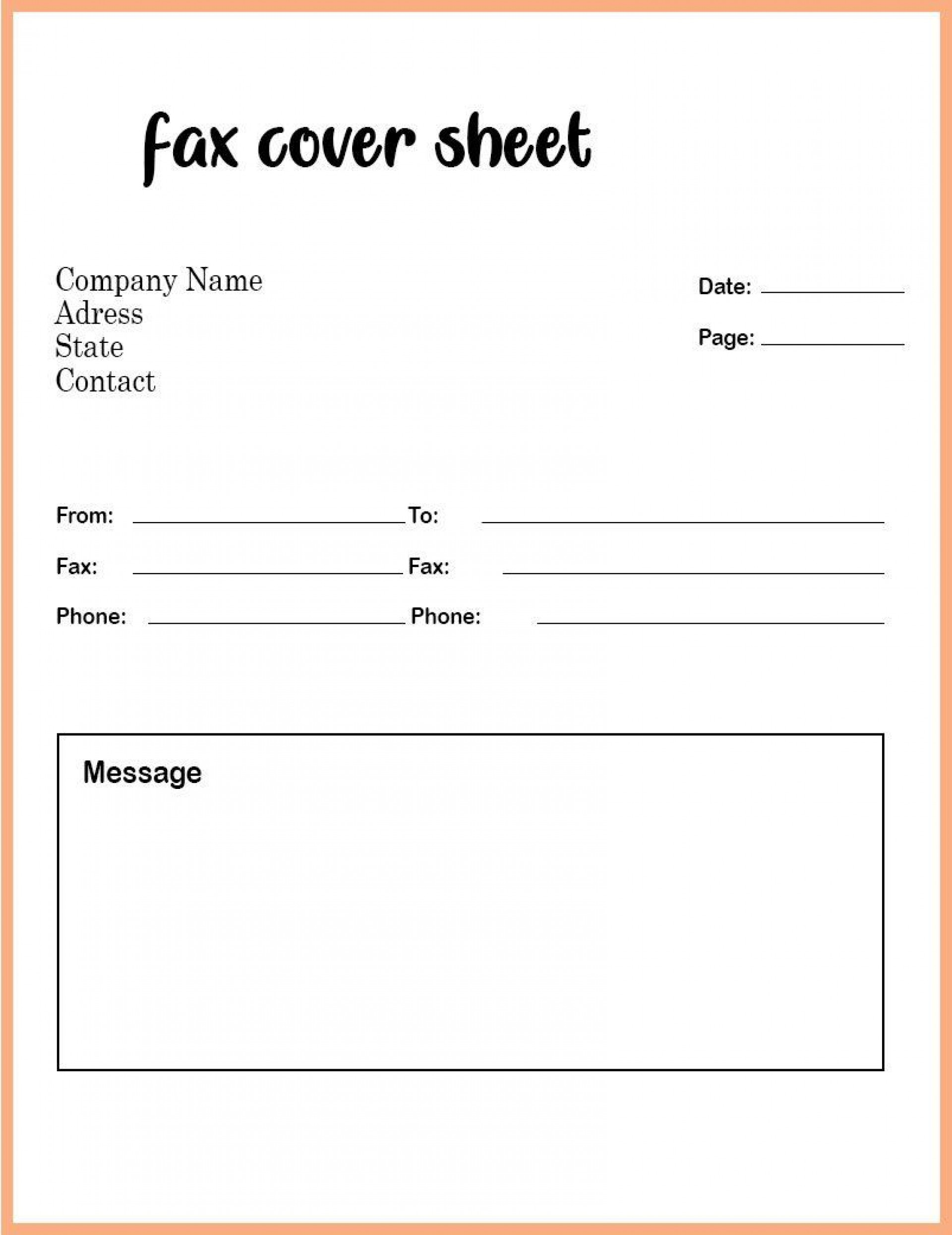 008 Phenomenal Fax Template Microsoft Word Picture  Cover Sheet 2010 Letter Busines1920