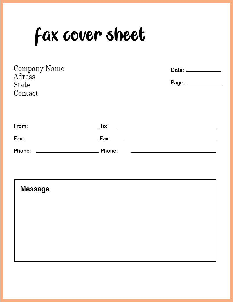 008 Phenomenal Fax Template Microsoft Word Picture  Cover Sheet 2010 Letter BusinesFull