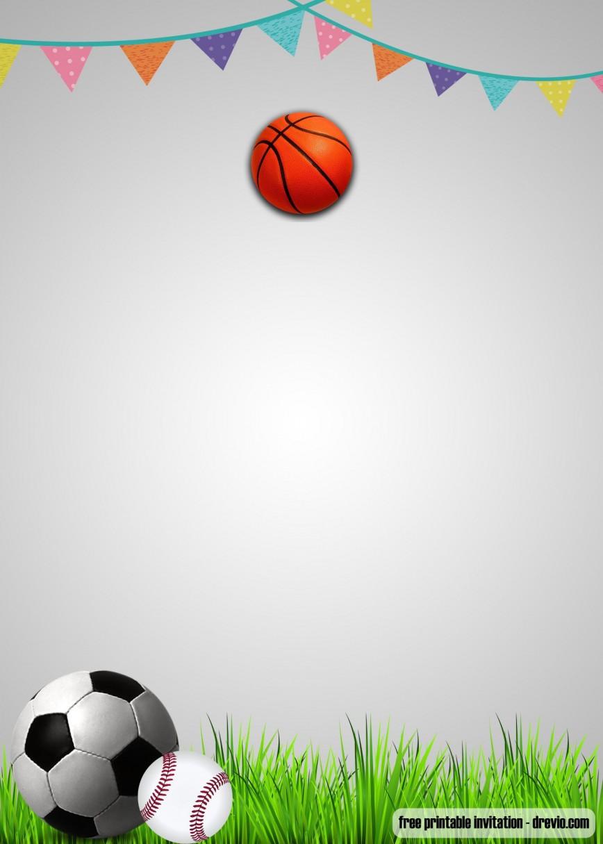 Football Party Invitation Template Free ~ Addictionary
