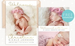 008 Phenomenal Free Baby Announcement Template Example  Templates Boy Photoshop Printable Shower Invite