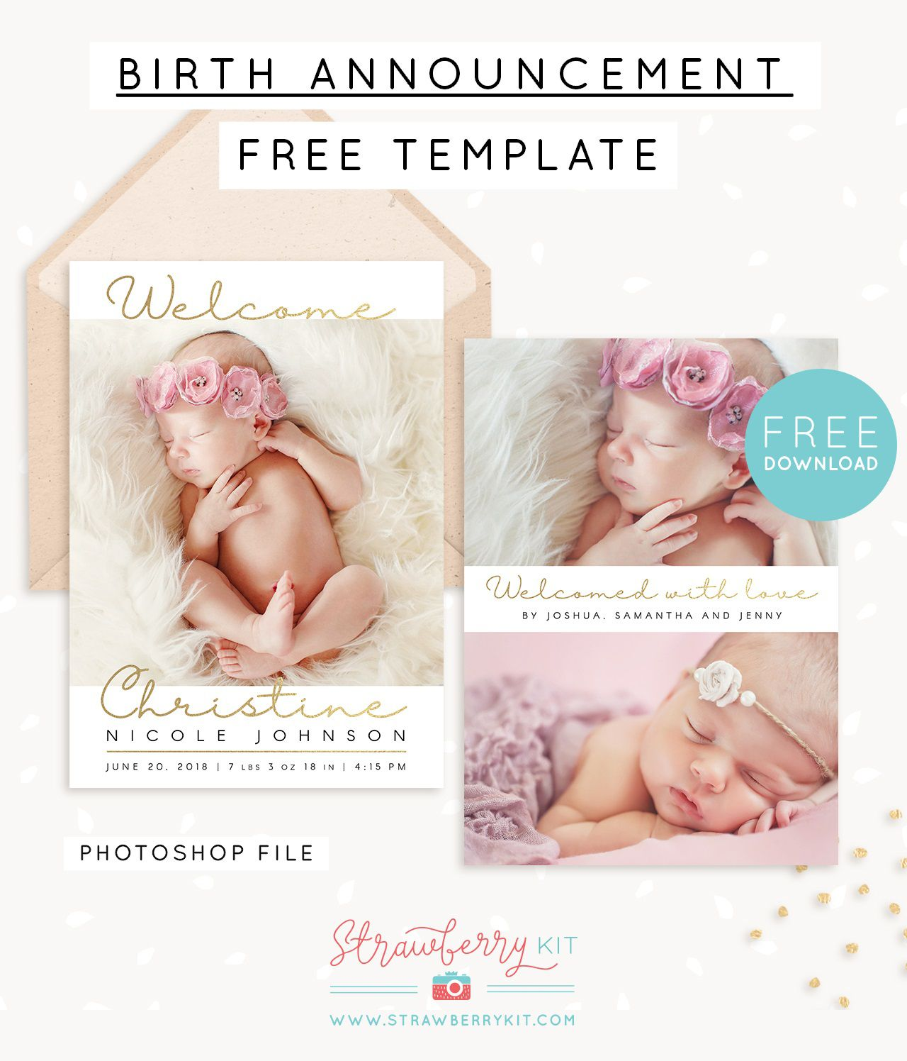 008 Phenomenal Free Baby Announcement Template Example  Templates Boy Photoshop Printable Shower InviteFull