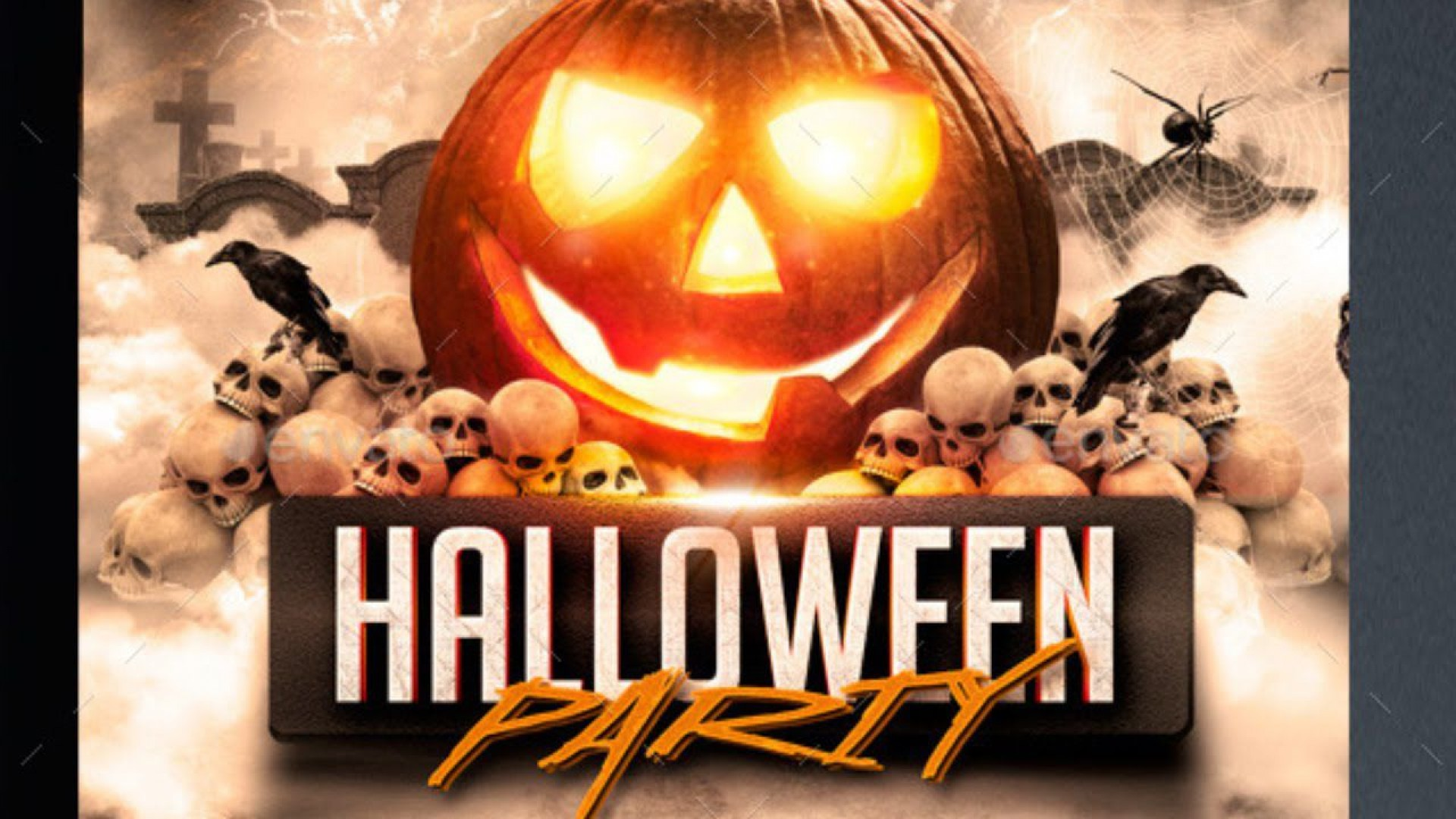 008 Phenomenal Free Halloween Party Flyer Template Example  Templates1920