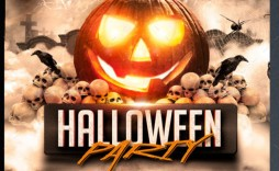 008 Phenomenal Free Halloween Party Flyer Template Example  Templates