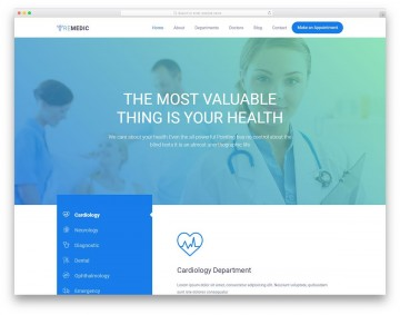 008 Phenomenal Free Website Template Download Html And Cs Jquery For Hospital High Def 360