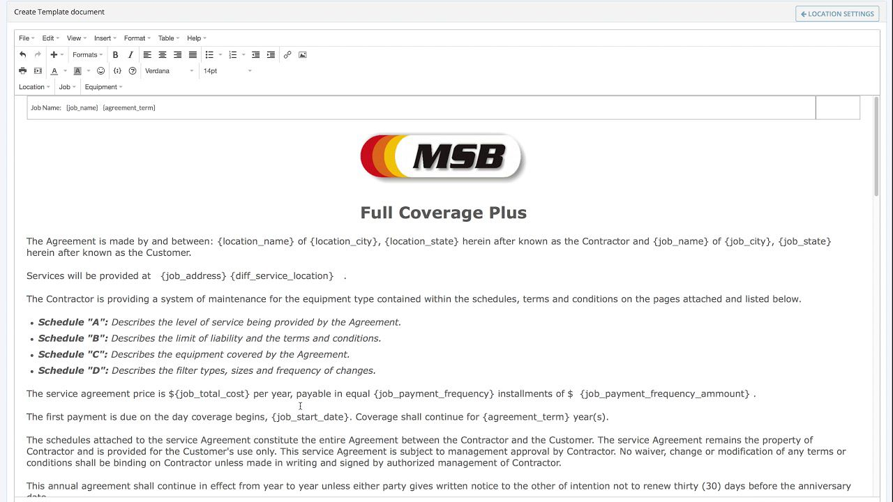008 Phenomenal Hvac Service Agreement Template Highest Quality  Contract Form Maintenance PdfFull