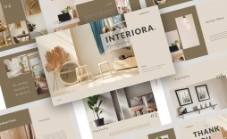 008 Phenomenal Interior Design Portfolio Template Image  Ppt Free Download Layout