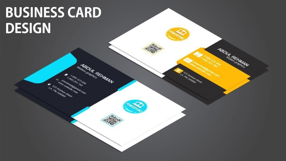 008 Phenomenal Powerpoint Busines Card Template Image  Ppt Create960