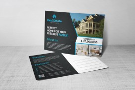 008 Phenomenal Real Estate Postcard Template Concept  Agent Free Microsoft Word Investor