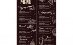 008 Phenomenal Restaurant Menu Template Free Download Design