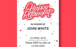 008 Phenomenal Retirement Farewell Party Invitation Template Free Highest Quality