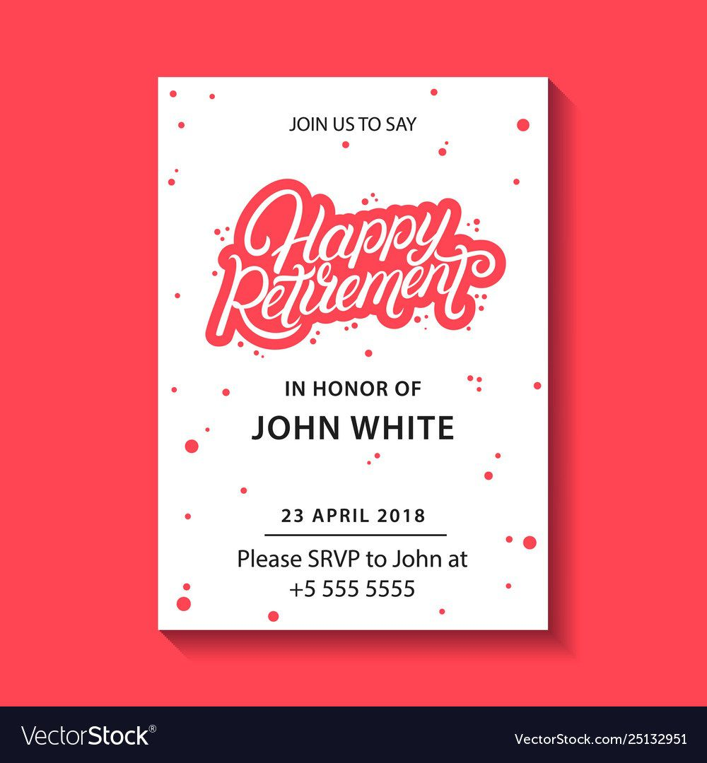 008 Phenomenal Retirement Farewell Party Invitation Template Free Highest Quality Full