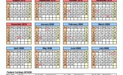 008 Phenomenal School Year Calendar Template High Resolution  Excel 2019-20 Word