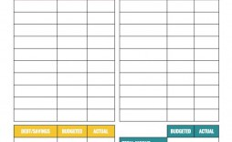 008 Phenomenal Simple Household Budget Template High Definition  Excel Google Sheet Home Form