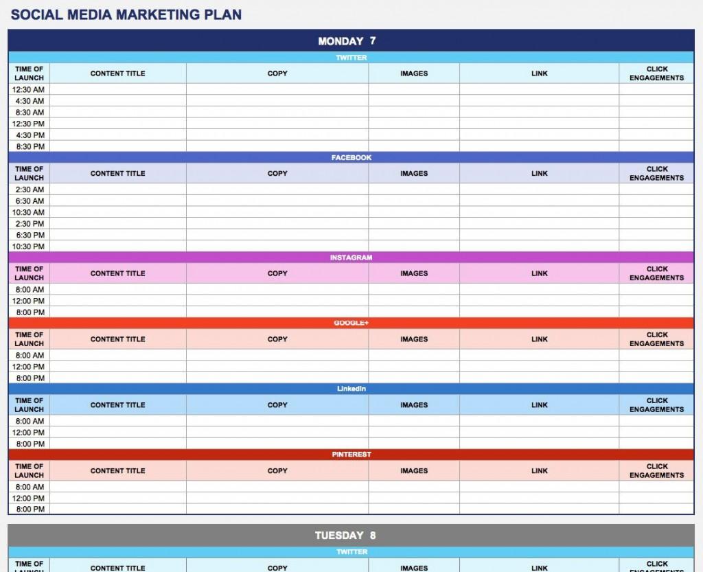 008 Phenomenal Social Media Plan Example Pdf Highest Clarity  Template Marketing SampleLarge
