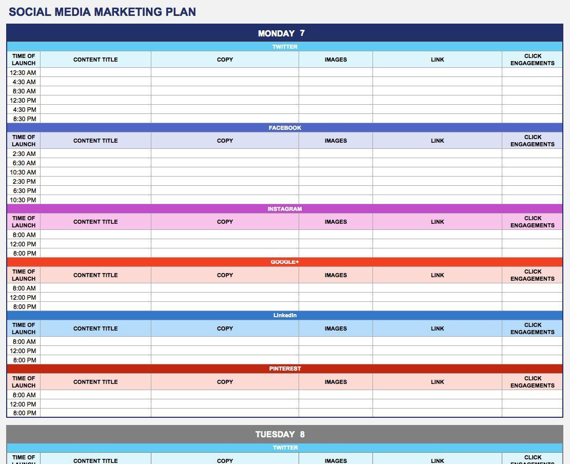 008 Phenomenal Social Media Plan Example Pdf Highest Clarity  Template Marketing SampleFull