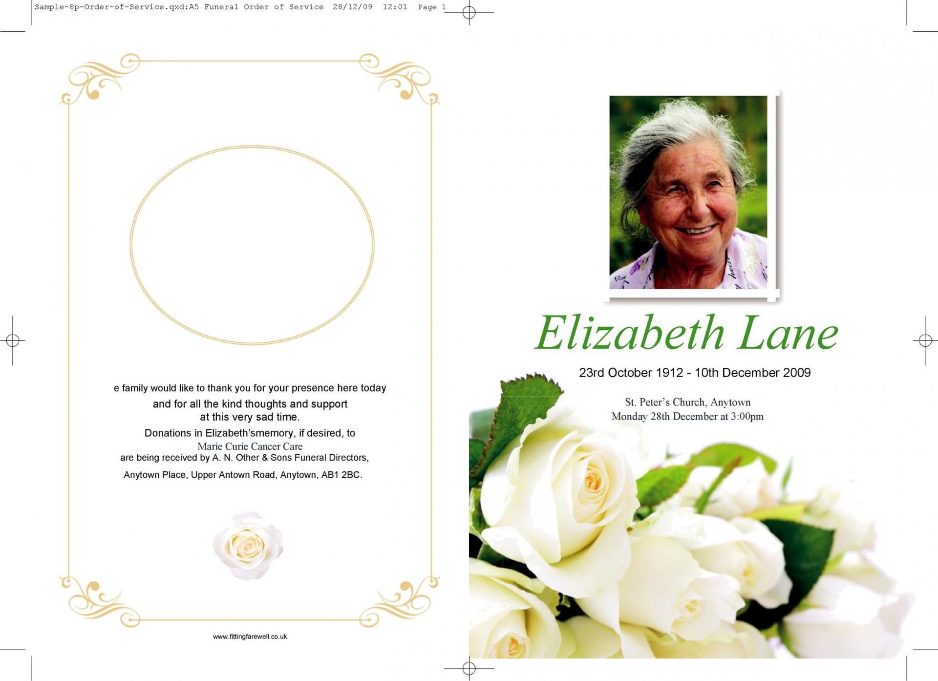 008 Phenomenal Template For Funeral Program Free Idea  Printable Download On Word Editable Pdf1920