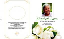 008 Phenomenal Template For Funeral Program Free Idea  Printable Download On Word Editable Pdf