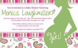 008 Rare Baby Shower Invitation Template Word Photo  Office Wording Sample Work Download