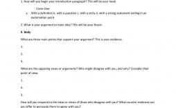 008 Rare College Argumentative Essay Outline Template Picture  High School