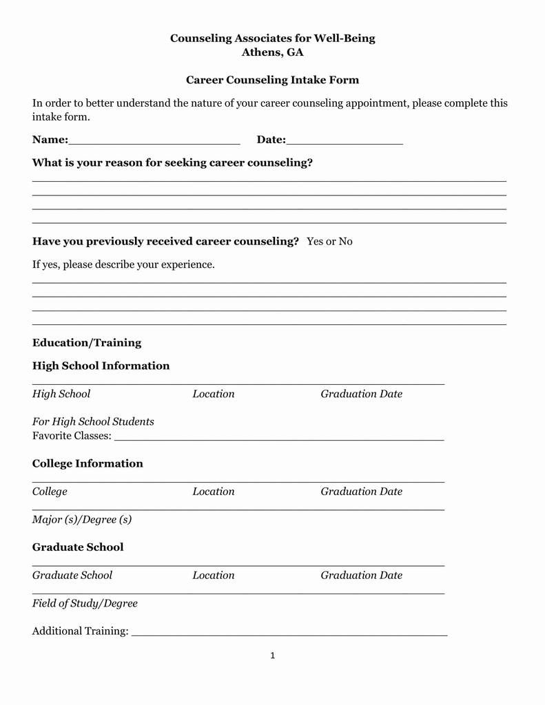 008 Rare Counseling Intake Form Template High Resolution  Templates Therapy Massage FreeFull