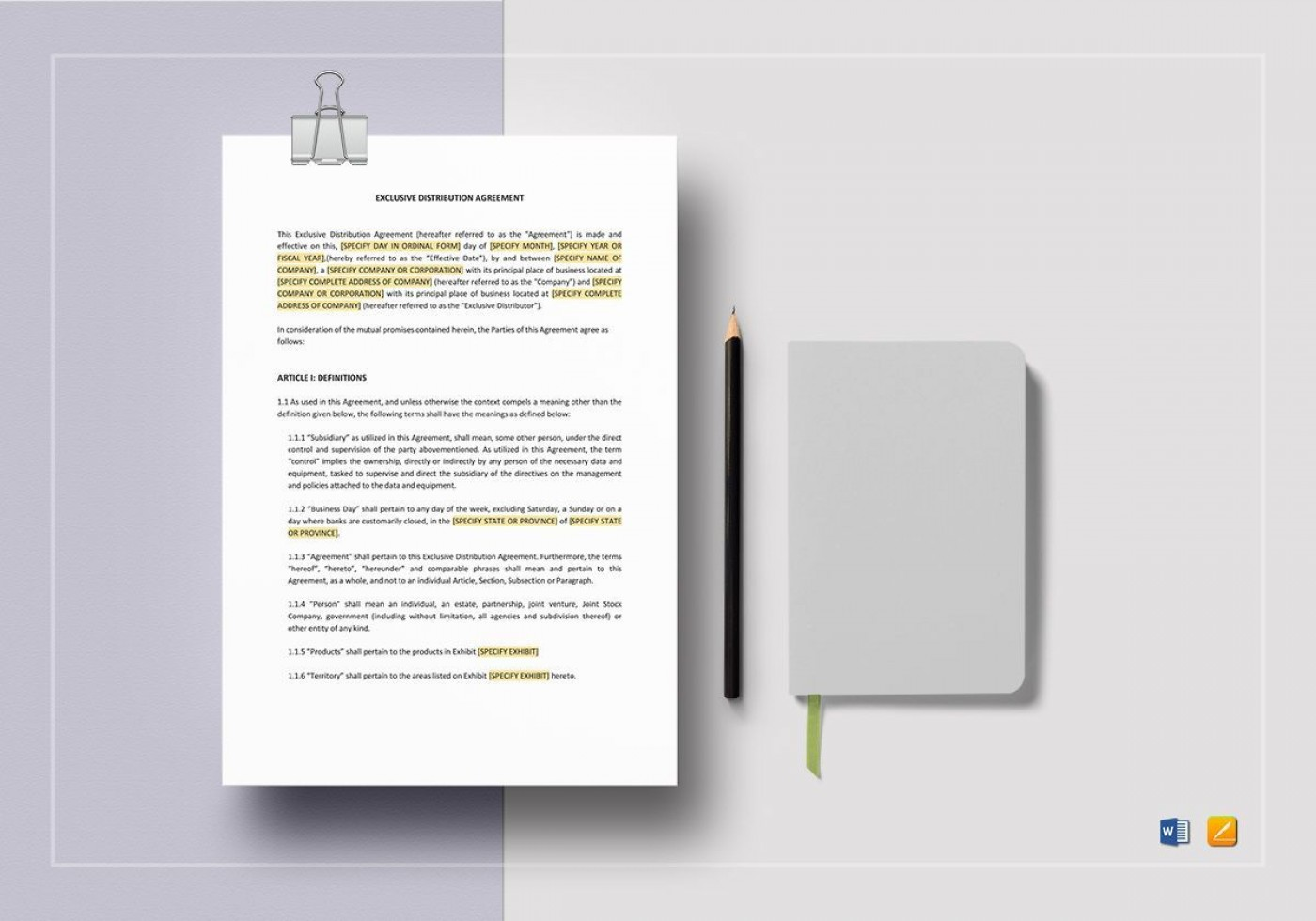 008 Rare Exclusive Distribution Agreement Template Word Photo  Format1400