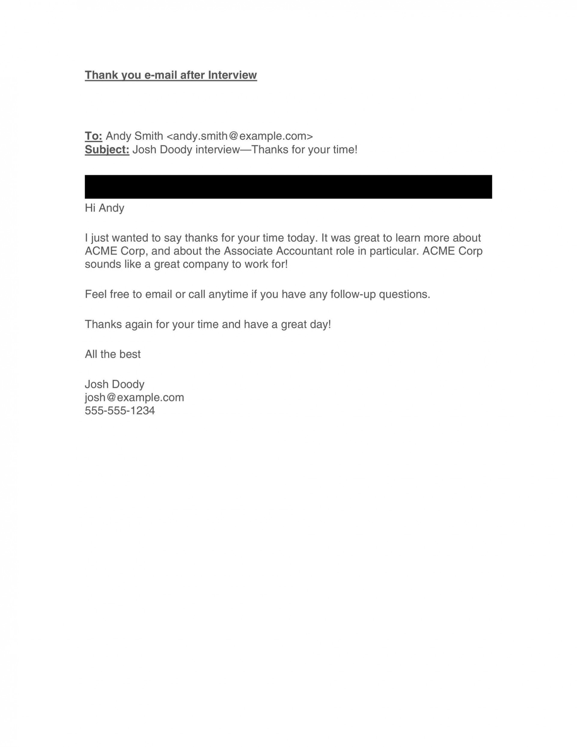 008 Rare Follow Up Email Sample After Interview Image  Polite When You Haven't Heard Back1920