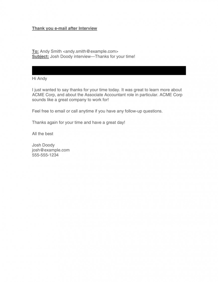 008 Rare Follow Up Email Sample After Interview Image  Subject Line Polite Second