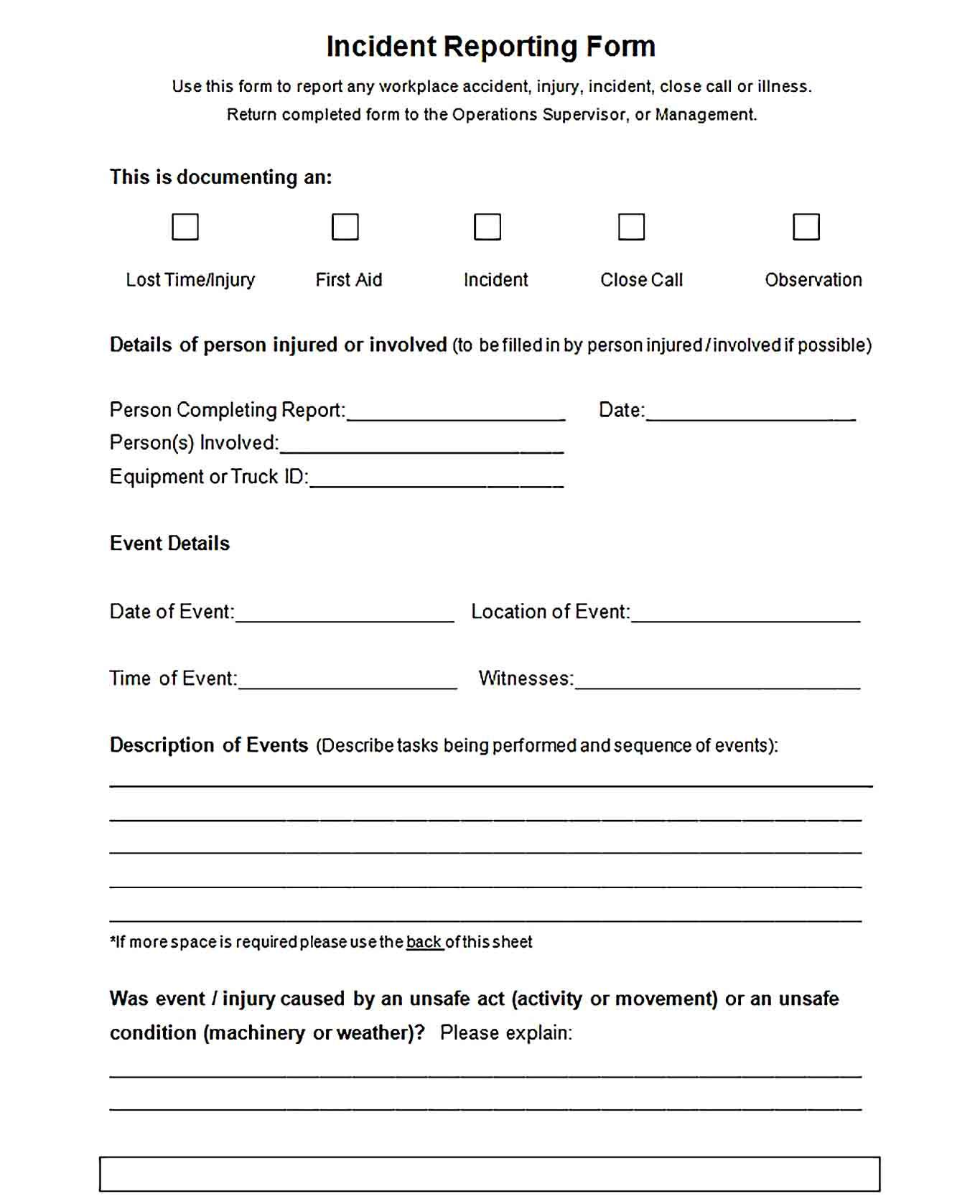 008 Rare Free Blank Expense Report Form Photo  Forms TemplateFull
