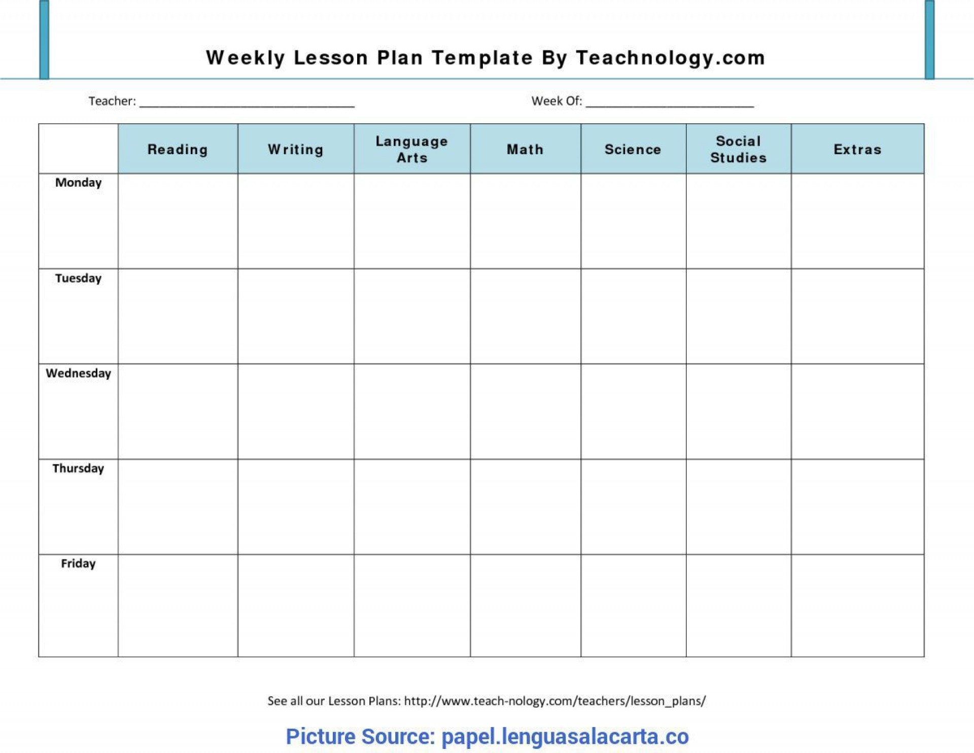 008 Rare Free Blank Lesson Plan Template Pdf Highest Quality  Weekly Editable1920