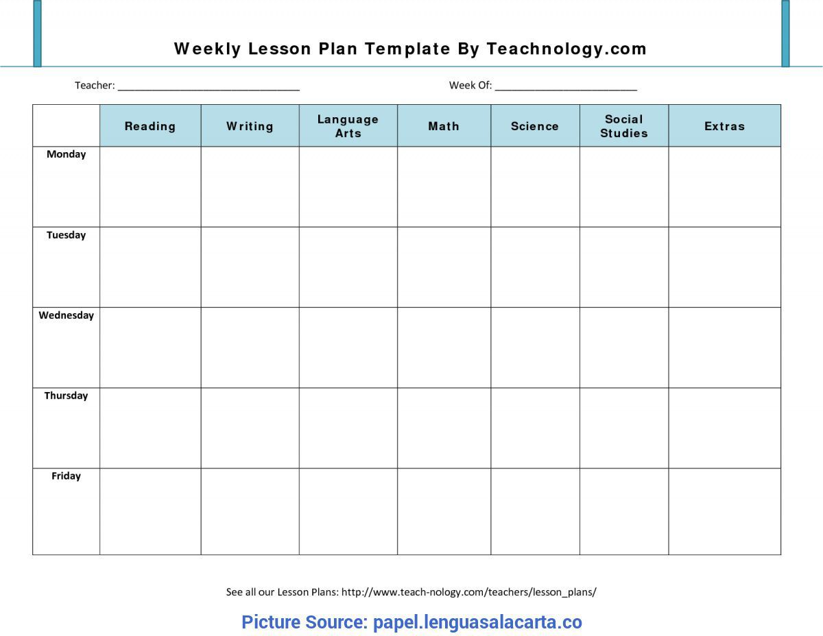 008 Rare Free Blank Lesson Plan Template Pdf Highest Quality  Weekly EditableFull