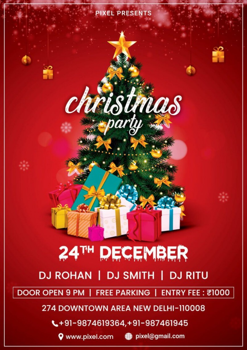 008 Rare Free Holiday Flyer Template Image  Download Company Party Word
