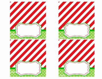 008 Rare Free Printable Christma Tent Card Template Design 360