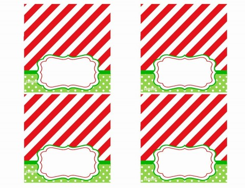 008 Rare Free Printable Christma Tent Card Template Design 480