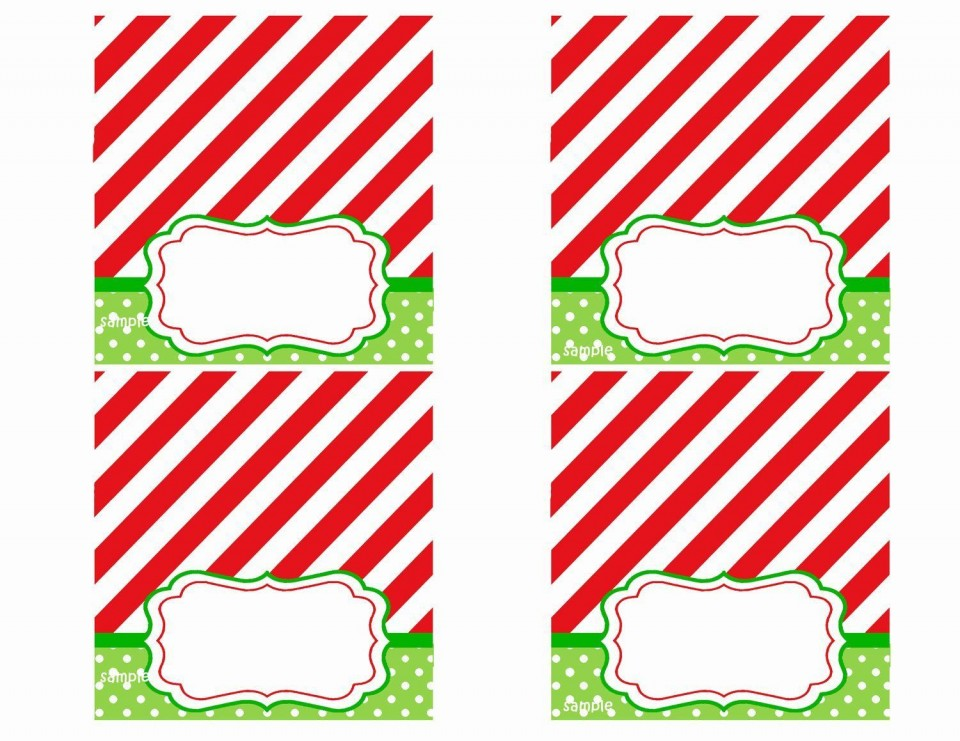 008 Rare Free Printable Christma Tent Card Template Design 960