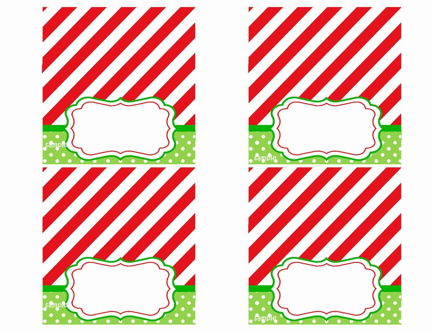 008 Rare Free Printable Christma Tent Card Template Design Full