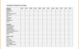 008 Rare Free Printable Monthly Budget Form Design  Simple Template Blank Household Sheet