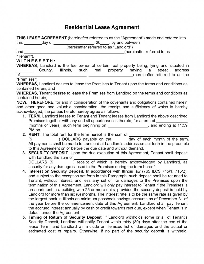 008 Rare Free Template For Rental Lease Agreement Example  Word Generic