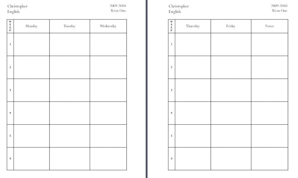 008 Rare Homeschool Lesson Plan Template Idea  Teacher Planner FreeLarge