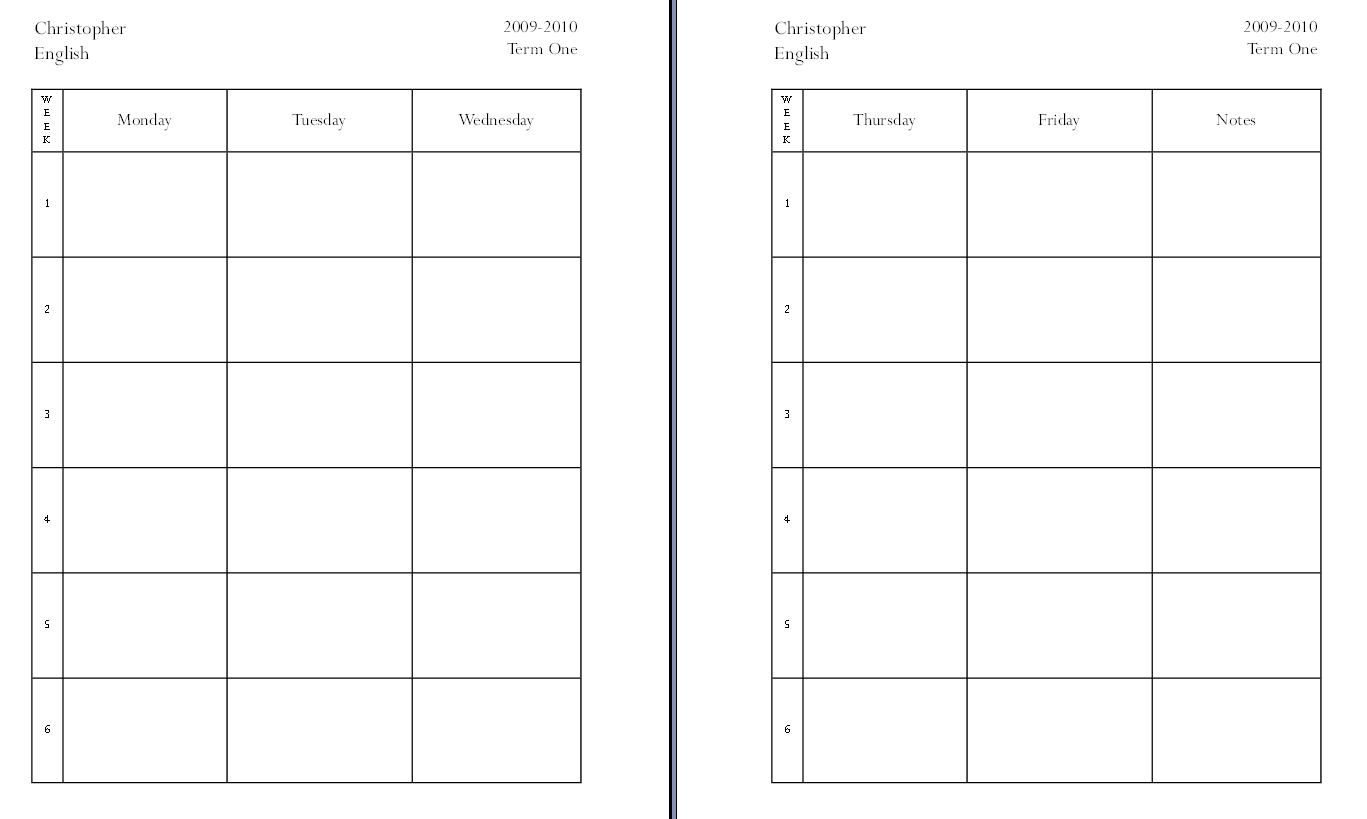 008 Rare Homeschool Lesson Plan Template Idea  Teacher Planner FreeFull