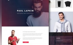 008 Rare Personal Portfolio Template Free Download Inspiration  Psd Powerpoint