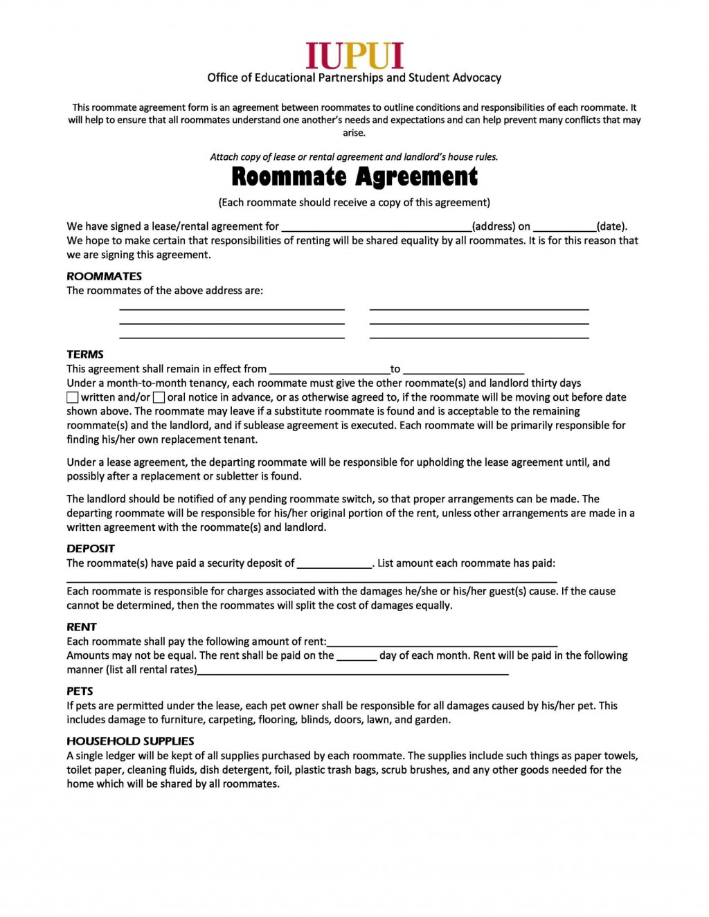 008 Rare Roommate Rental Agreement Template Inspiration  Form Free ContractLarge