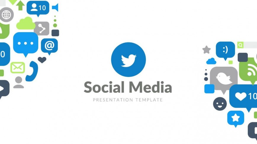 008 Rare Social Media Powerpoint Template Free Inspiration  Strategy Report Download