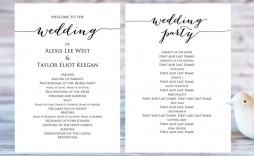 008 Rare Template For Wedding Program Highest Quality  Word Free Catholic