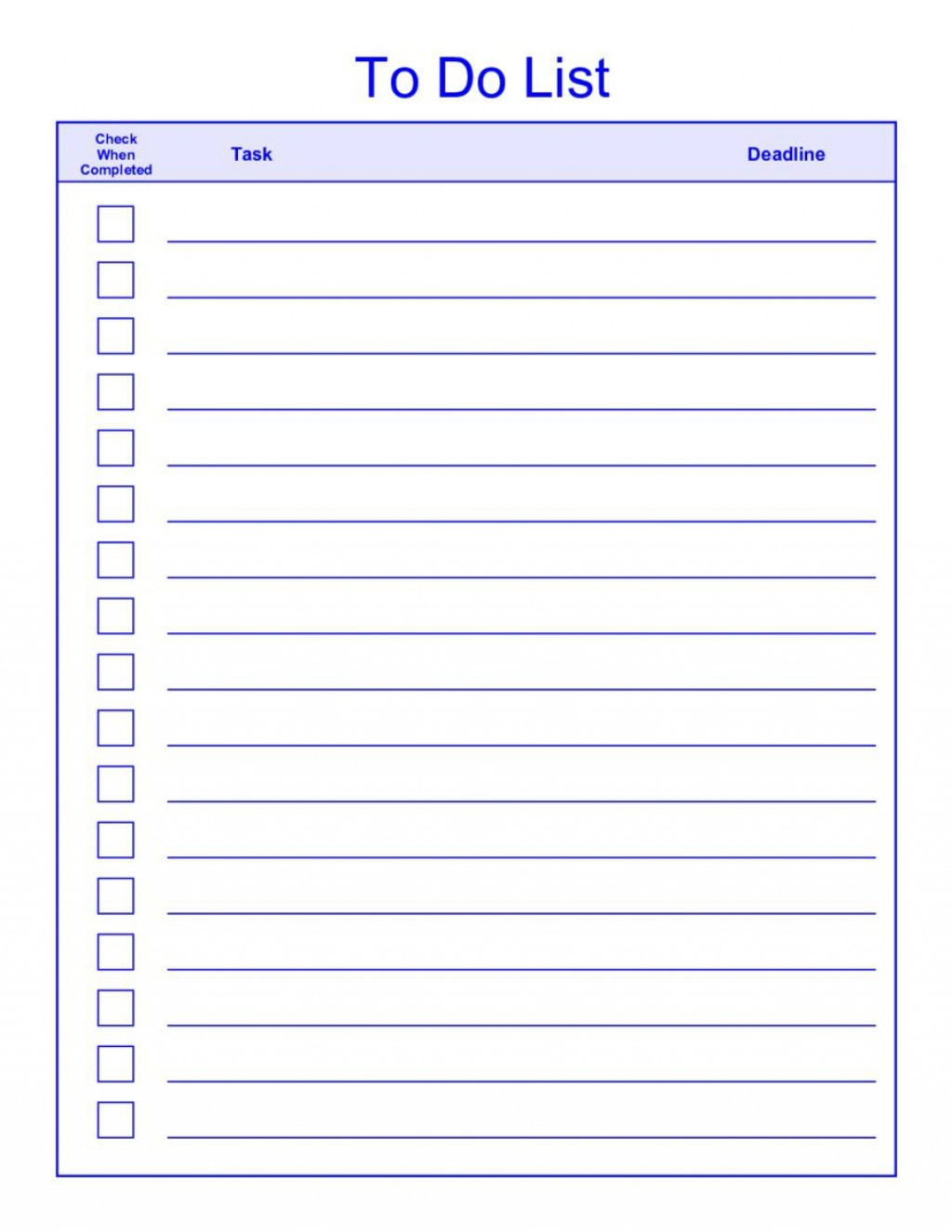 008 Rare To Do List Template Word Example  For Microsoft FreeLarge
