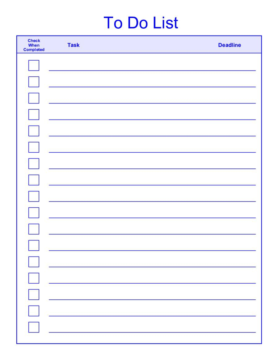 008 Rare To Do List Template Word Example  For Microsoft FreeFull